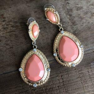 Jewelry - Coral gemstone earrings
